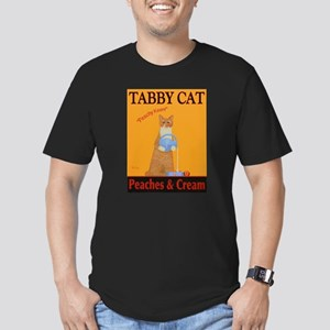 Tabby Cat Peaches and Men's Fitted T-Shirt (dark)