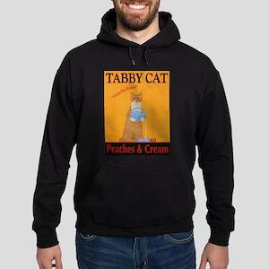 Tabby Cat Peaches and Cream Hoodie (dark)