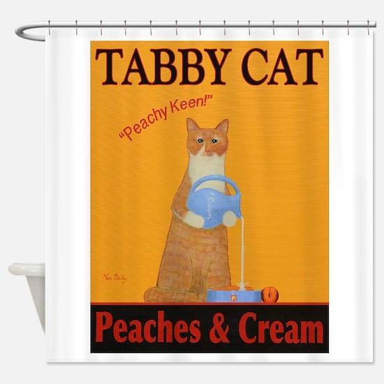 Tabby Cat Peaches and Cream Shower Curtain