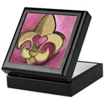 Valentine Fleur De Lis with Heart Keepsake Box