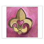 Valentine Fleur De Lis with Heart Small Poster