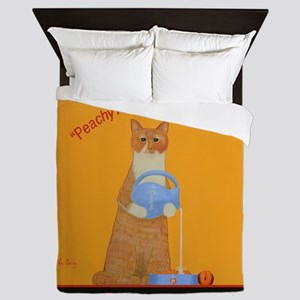 Tabby Cat Peaches and Cream Queen Duvet