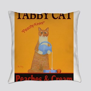 Tabby Cat Peaches and Cream Everyday Pillow