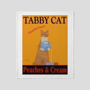 Tabby Cat Peaches and Cream Throw Blanket