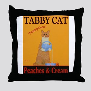 Tabby Cat Peaches and Cream Throw Pillow