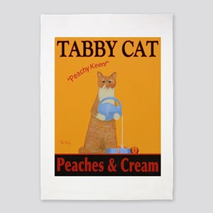 Tabby Cat Peaches and Cream 5'x7'Area Rug