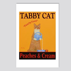 Tabby Cat Peaches and Cre Postcards (Package of 8)