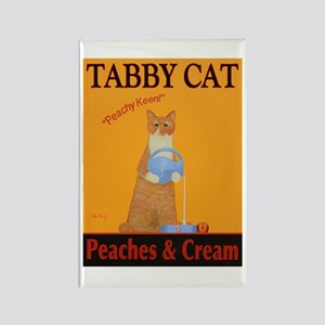 Tabby Cat Peaches and Cream Rectangle Magnet