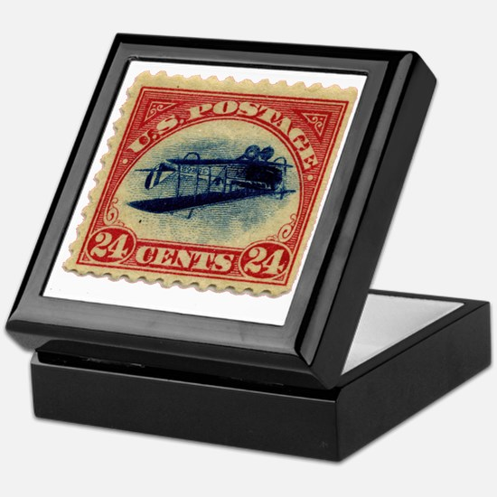 Inverted Jenny Keepsake Box for Holding Stamps