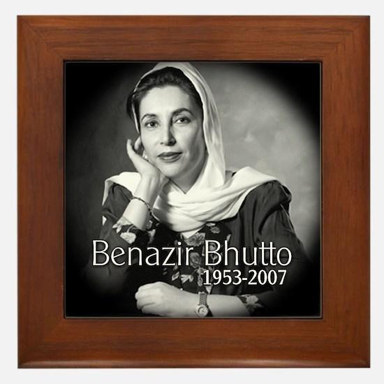 Benazir Bhutto Framed Tile