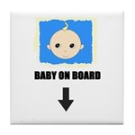I'M NOT LAZY I'M PREGNANT/BABY ON BOARD Tile Coast