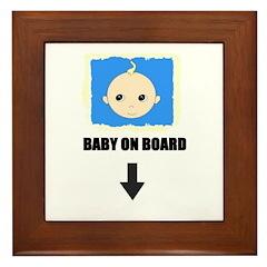 I'M NOT LAZY I'M PREGNANT/BABY ON BOARD Framed Til