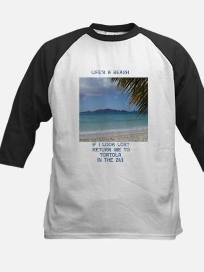 Life's a Beach Kids Baseball Jersey