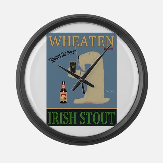 Wheaten Irish Stout Large Wall Clock