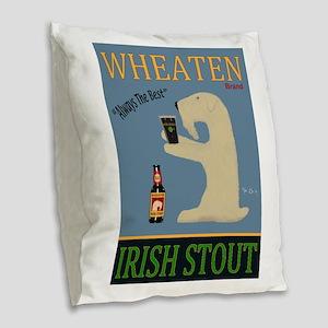 Wheaten Irish Stout Burlap Throw Pillow