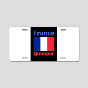 Quimper France Aluminum License Plate