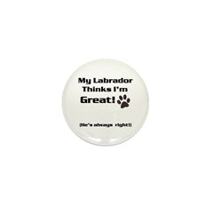 My Lab loves me! Mini Button (10 pack)