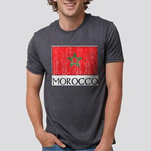 Morocco Flag Ash Grey T-Shirt
