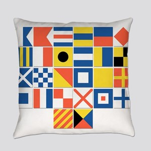 Nautical Flags Everyday Pillow