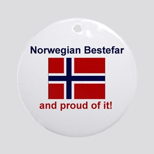 Proud Norwegian Bestefar Ornament (Round)