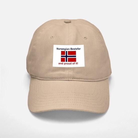 Proud Norwegian Bestefar Baseball Baseball Cap
