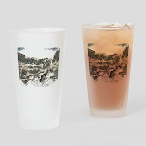 Bye Bye Dragonfly Drinking Glass