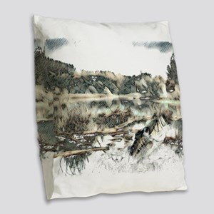 Bye Bye Dragonfly Burlap Throw Pillow