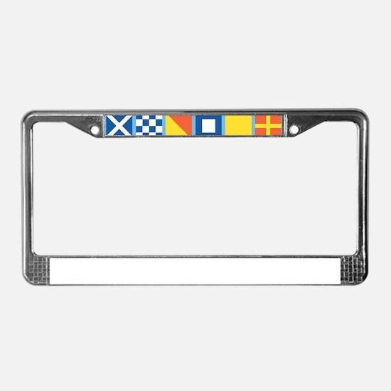 Nautical Flags License Plate Frame