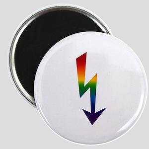 Rainbow Gay Lightning Bolt Magnet