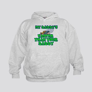 My Daddy's Faster... Kids Hoodie