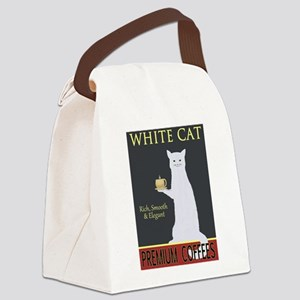 White Cat Coffee Canvas Lunch Bag