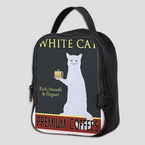 White Cat Coffee Neoprene Lunch Bag