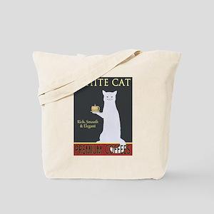 White Cat Coffee Tote Bag