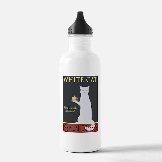 White Cat Coffee Water Bottle