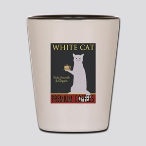 White Cat Coffee Shot Glass