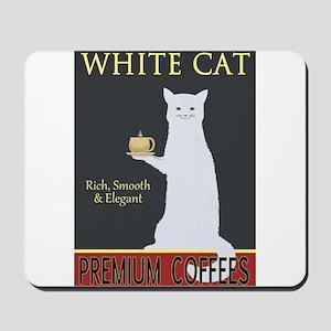 White Cat Coffee Mousepad