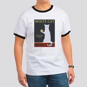 White Cat Coffee Ringer T