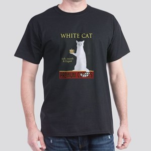 White Cat Coffee Dark T-Shirt
