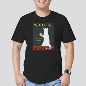 White Cat Coffee Men's Fitted T-Shirt (dark)