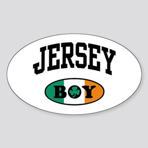 Irish Jersey Boy Oval Sticker