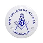 Orrstown Lodge No 262 logo Round Ornament