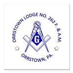 Orrstown Lodge No 262 lo Square Car Magnet 3