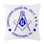 Lg Orrstown Lodge 262 Logo Woven Throw Pillow