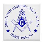 Lg Orrstown Lodge 262 Logo Tile Coaster
