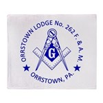 Lg Orrstown Lodge 262 Logo Throw Blanket