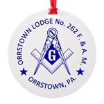 Lg Orrstown Lodge 262 Logo Round Ornament
