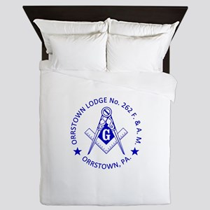 Lg Orrstown Lodge 262 Logo Queen Duvet