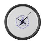 Lg Orrstown Lodge 262 Logo Large Wall Clock