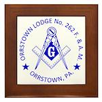 Lg Orrstown Lodge 262 Logo Framed Tile