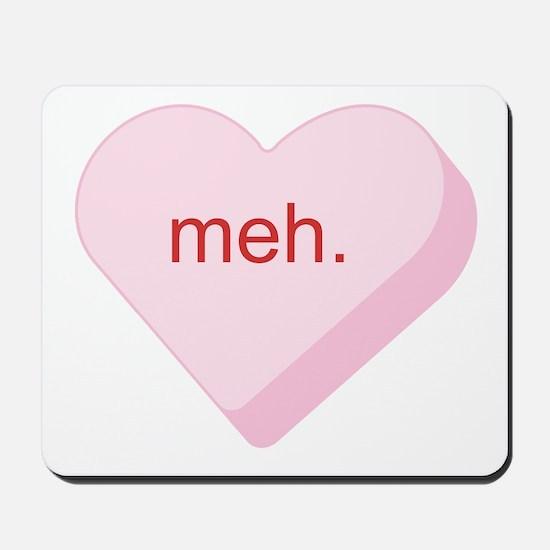 Meh Heart Mousepad